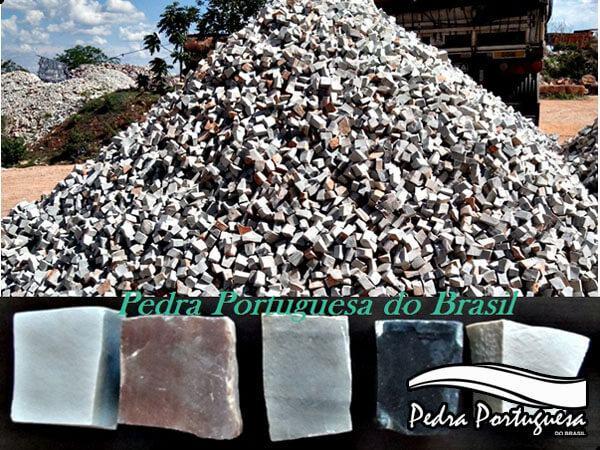 Mosaico Pedra Portuguesa em todas as cores