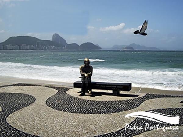 Pedra Portuguesa Calçadão de Copacabana