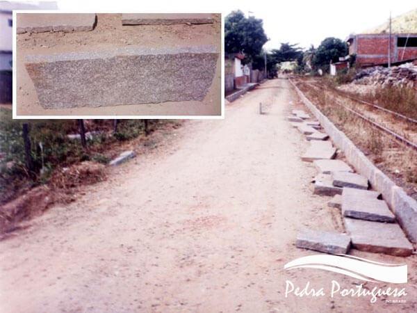 Pavimentação Meio Fio de Pedra Miracema