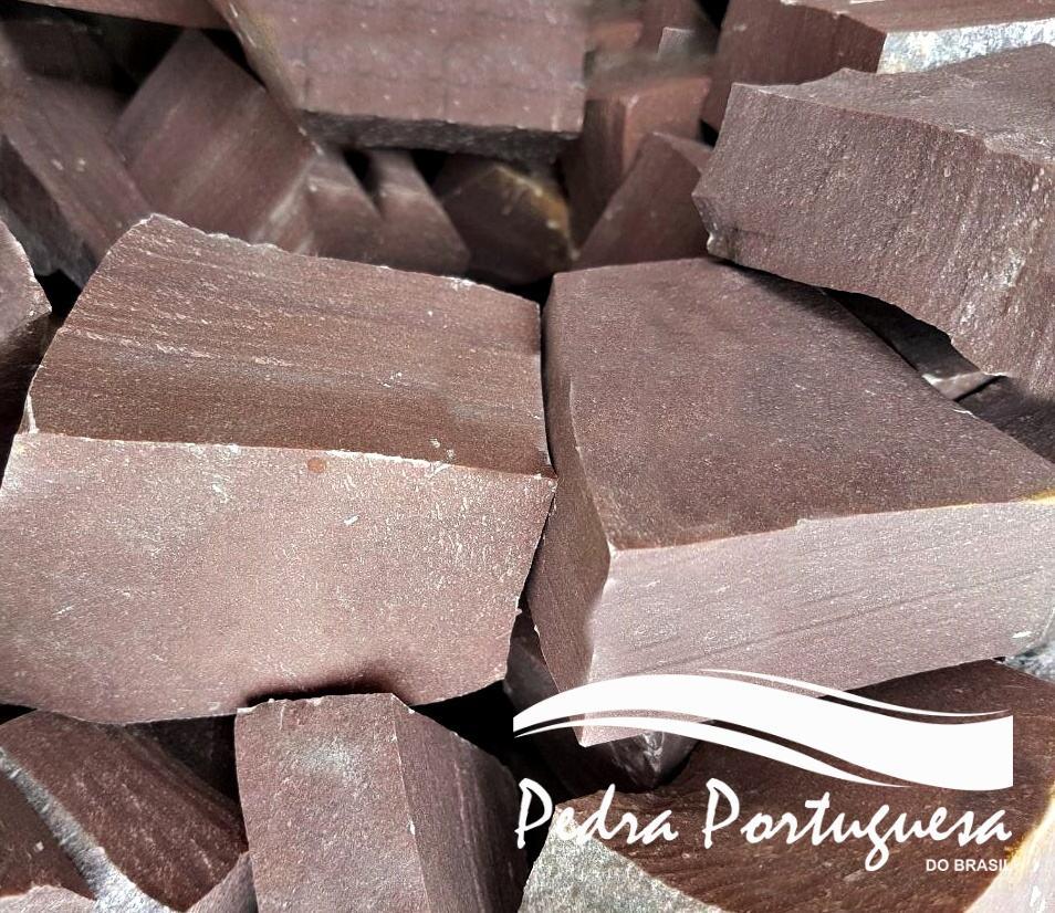 1 Pedra Portuguesa Marrom - Terra Cota - Uva